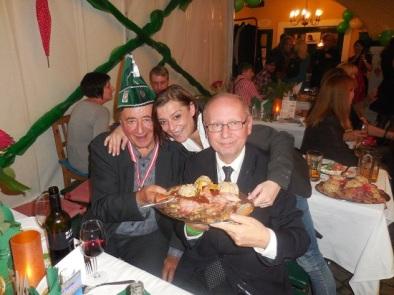 Richard Lugner, Michelle Knabl, Christian Schratt-in Das Schreiberhaus